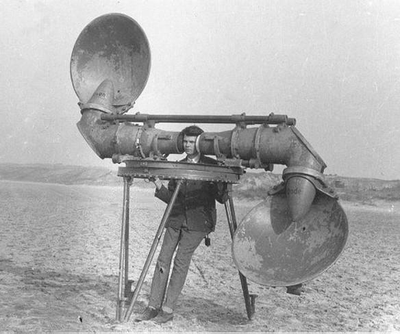Preradar acoustic device